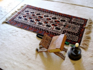 PRAYER Rug and Quran