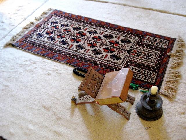 PRAYER Rug and Quran